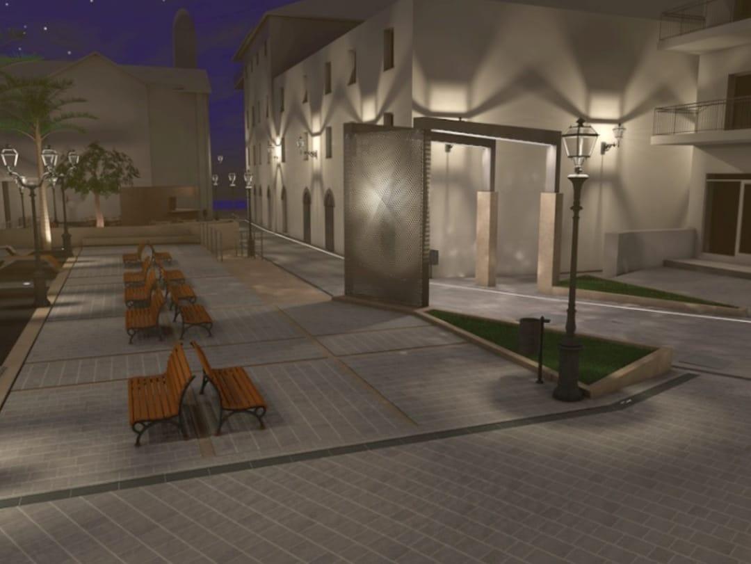 Alassio rendering Piazza Airaldi Durante 03