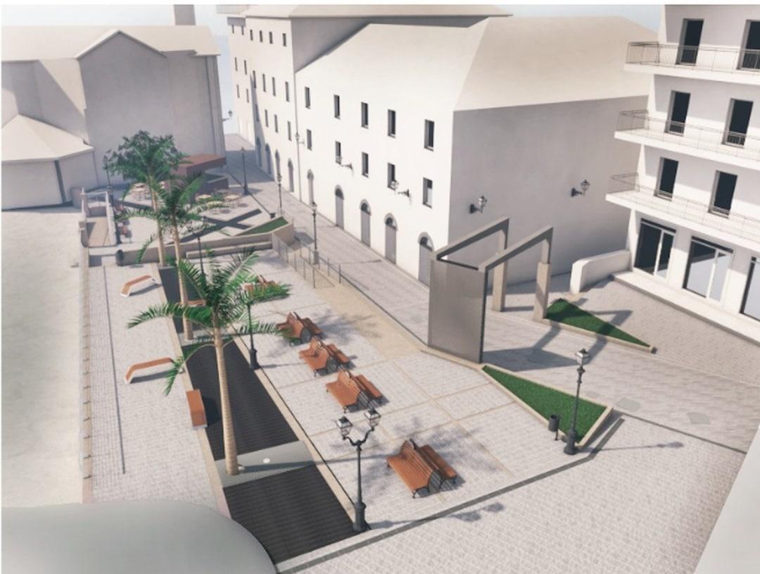 Alassio rendering Piazza Airaldi Durante 04