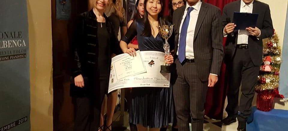 Vincitrice concorso pianistico città di Albenga