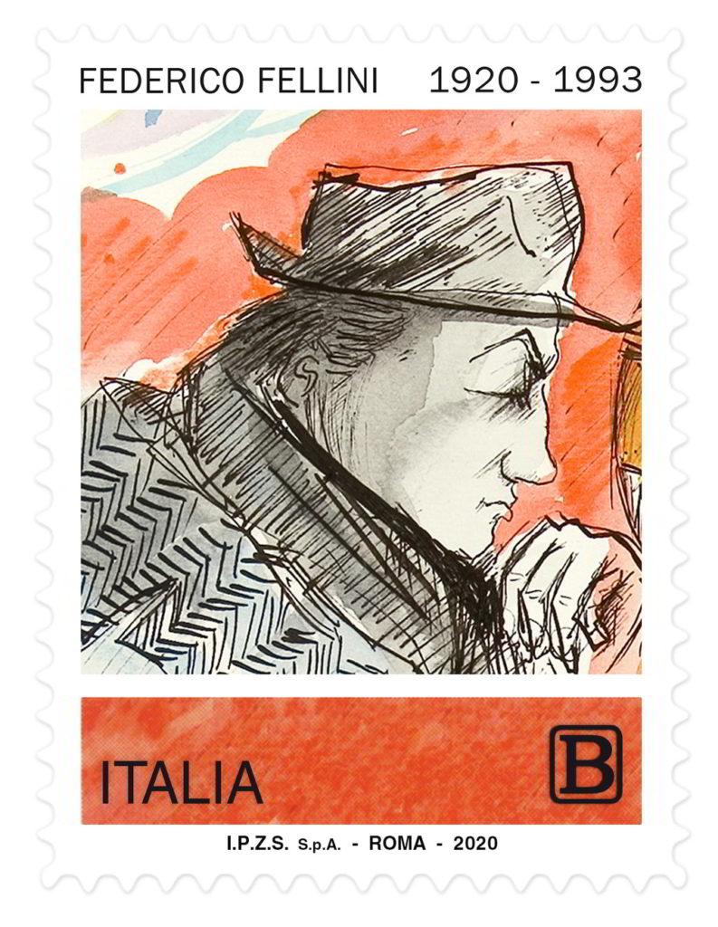 Federico Fellini, il francobollo 2020