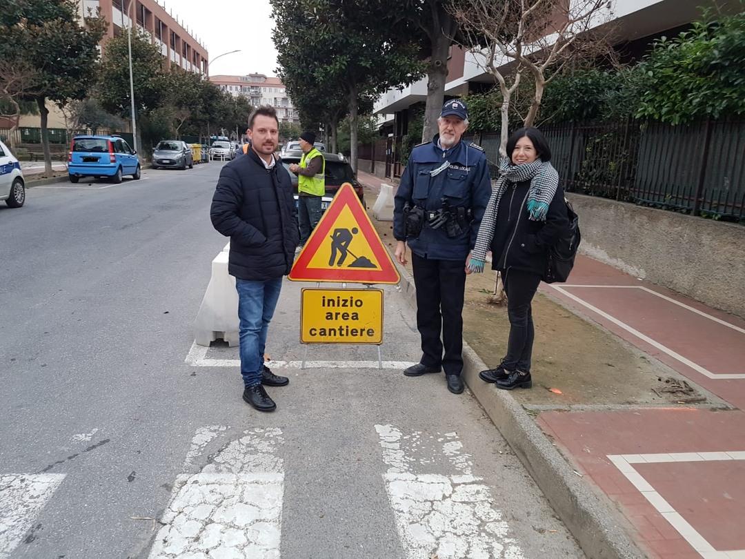 Lavori superamento barriere architettoniche Albenga 03