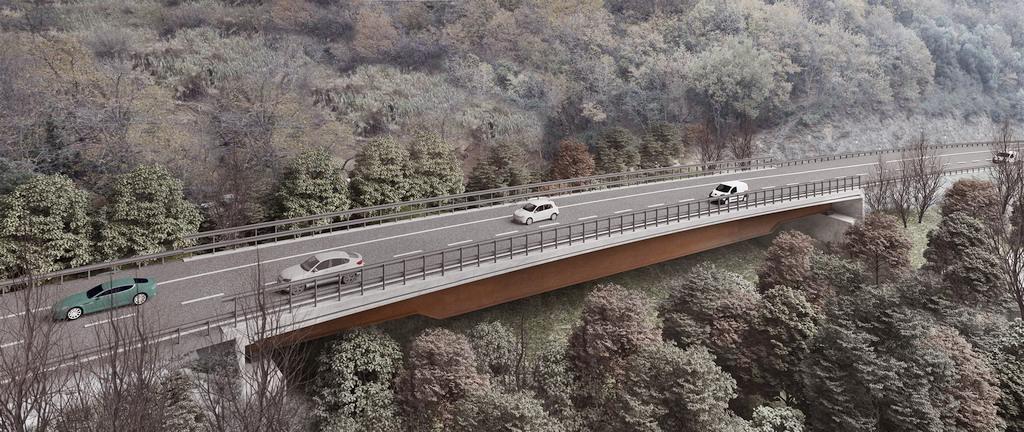 """Rendering del progetto per il nuovo Viadotto A6 """"Madonna del Monte"""""""