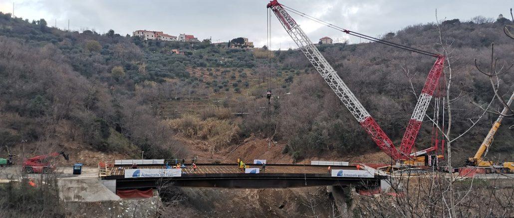 A6 Savona Torino impalcato nuovo viadotto