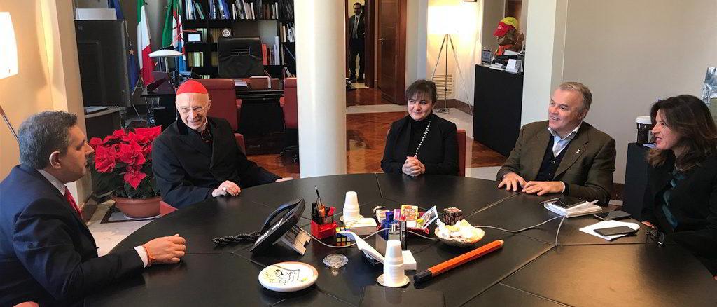 incontro del presidente Toti e degli assessori con il cardinale Bagnasco