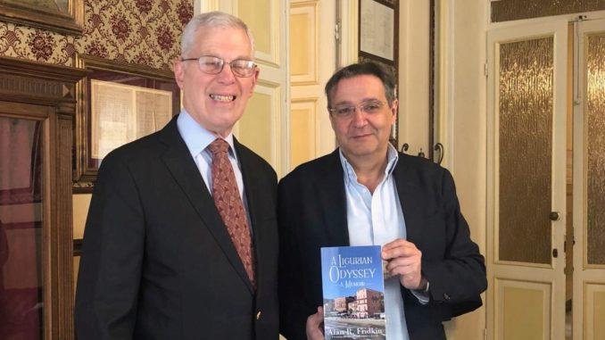 Alan Fridkin e Amgelo Galtieri in Comune ad Alassio
