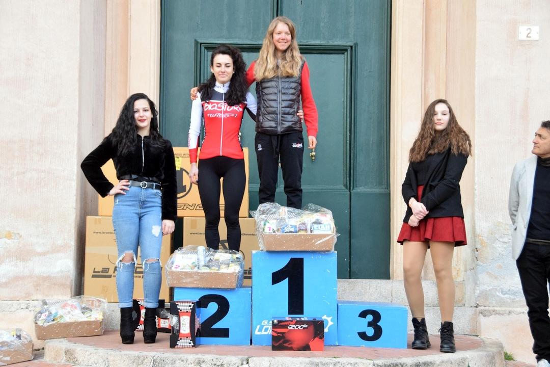Gran fondo Città di Loano podio femminile