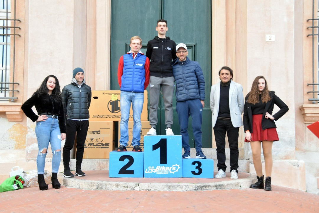 Gran fondo Città di Loano podio maschile