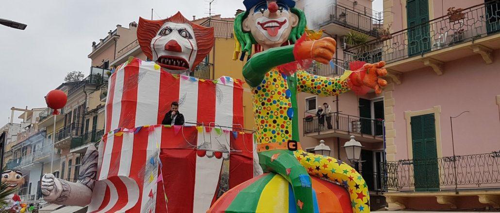 Il circo della vita vincitore Palio Comuni Carnevale Loano 2020