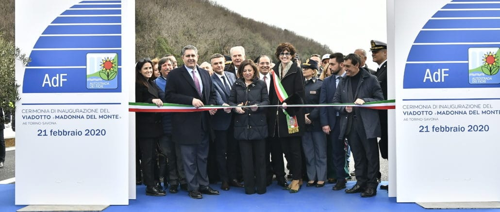 A6 Inaugurazione del nuovo-viadotto Madonna del Monte a Savona