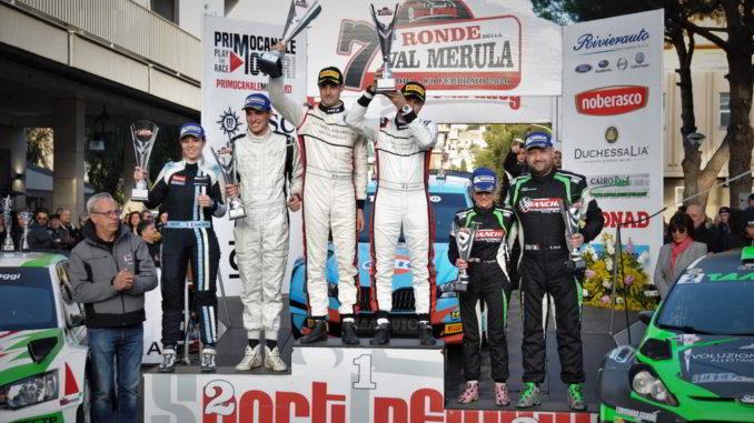 il podio della settima edizione della Ronde della Val Merula
