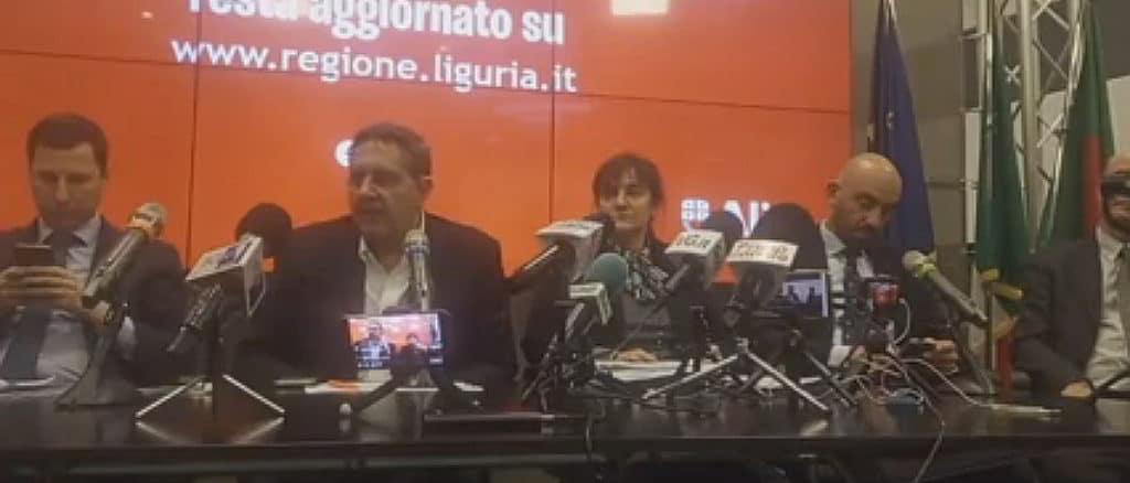 Punto stampa coronavirus Regione Liguria