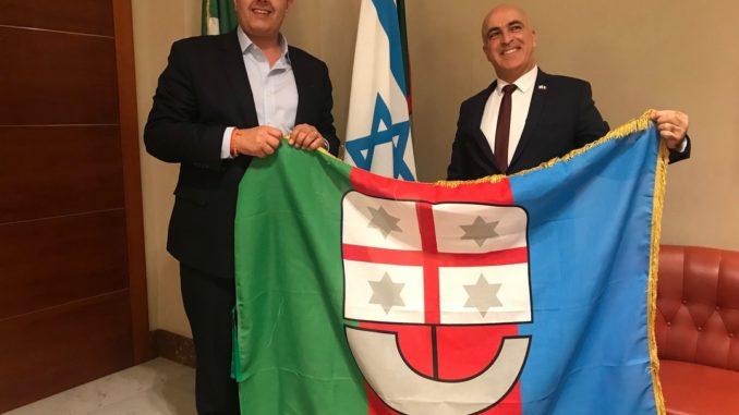 Regione Liguria, presidente Toti riceve la visita dell'ambasciatore d'Israele Dror Eydar