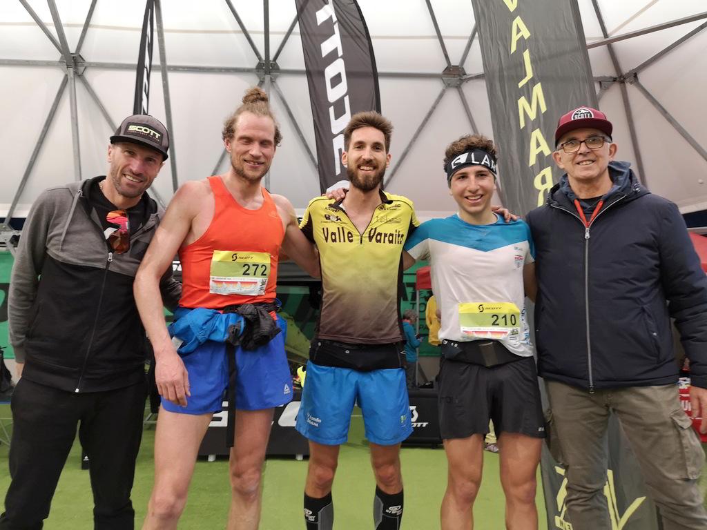 Il podio maschile della 28km del Val Maremola Trail 2020