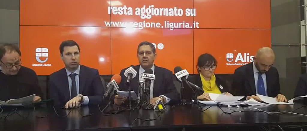 Aggiornamento Coronavirus Regione Liguria