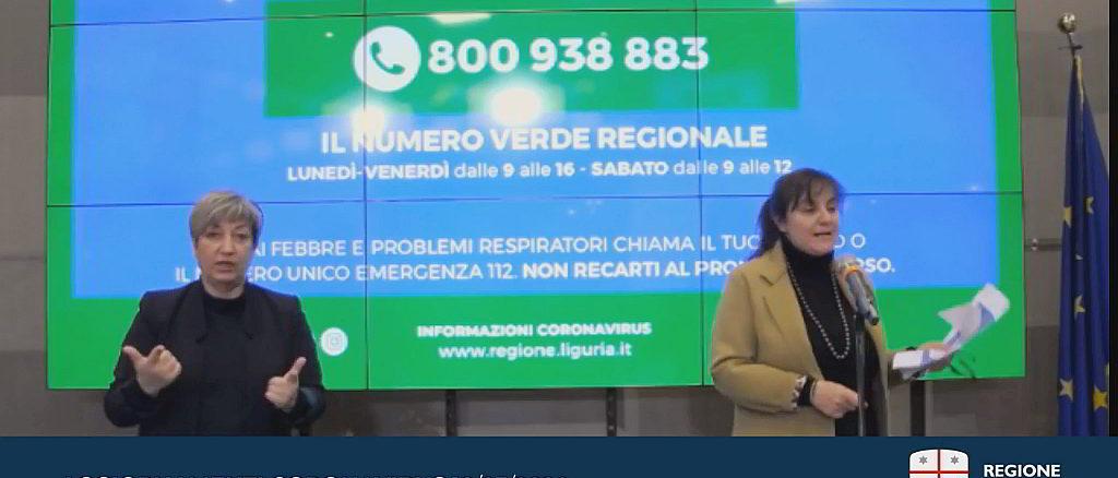 Aggiornamento Coronavirus Regione Liguria - 18-3-2020