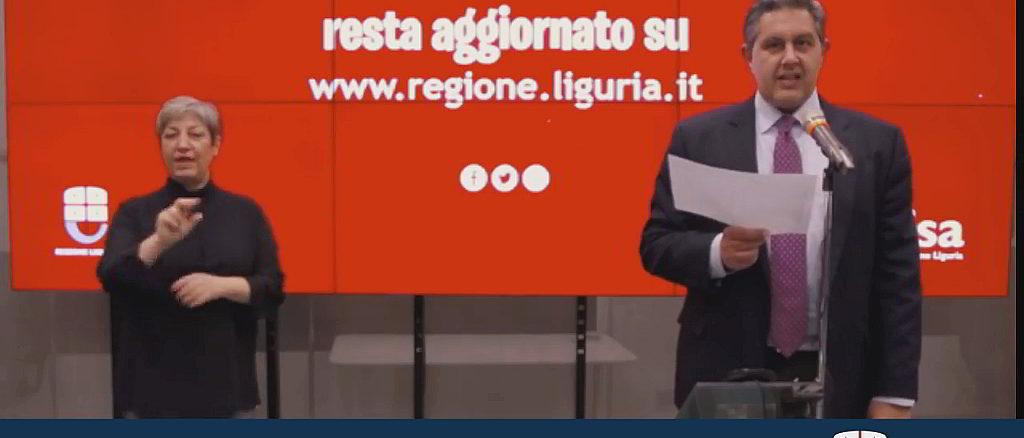Aggiornamento Coronavirus - Toti Regione Liguria