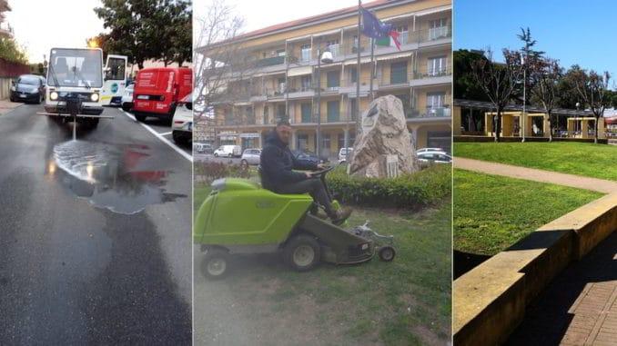 Albenga cura del verde pubblico e pulizia