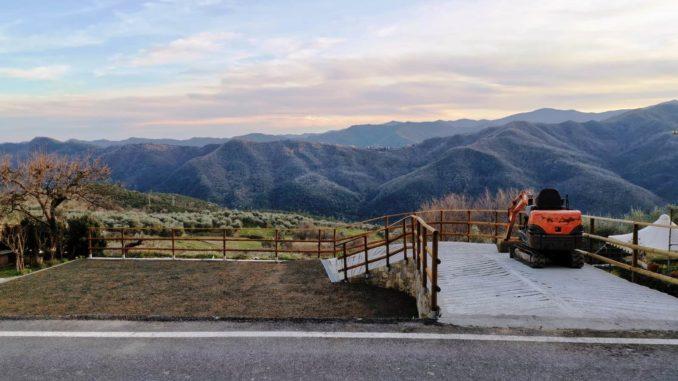 Vista dall'azienda agricola di Nicola Piccardo
