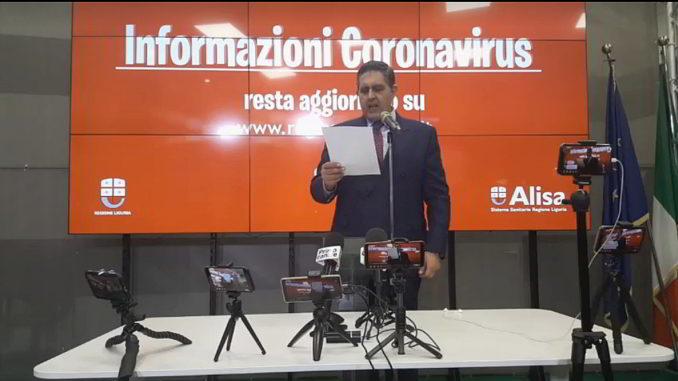 Coronavirus Toti Regione Liguria