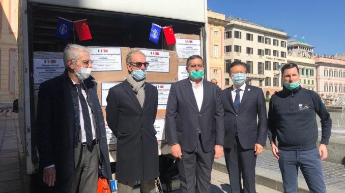 Liguria arrivate oggi 500000 mascherine dalla Cina