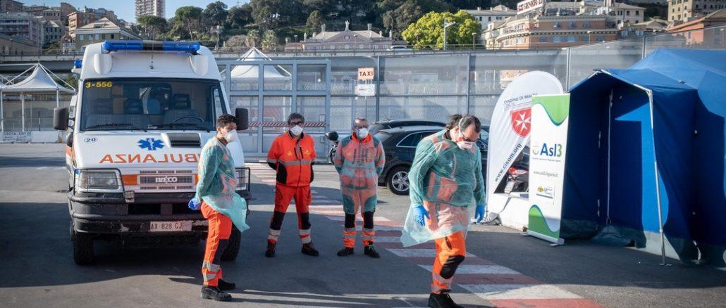 Operatori protezione civile e Asl3