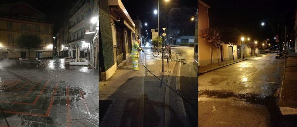 Sanificazione Strade e piazze di Loano
