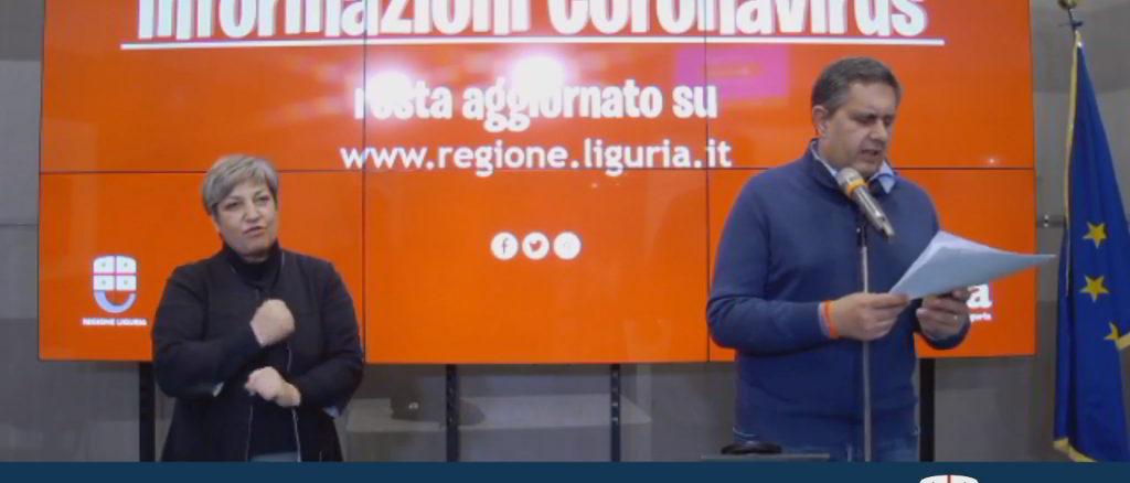 Toti Aggiornamento Regione Liguria coronavirus 22-3-2020
