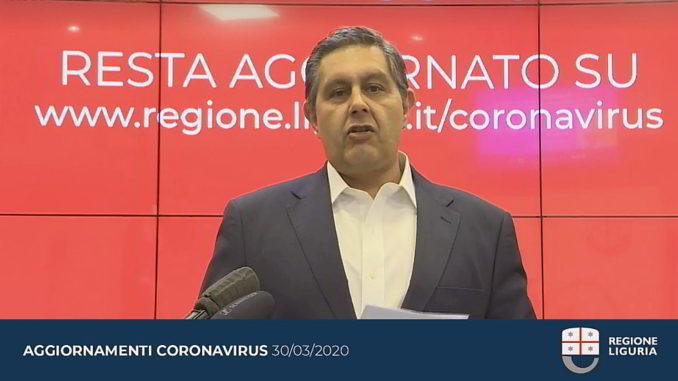 Toti Aggiornamento Regione Liguria coronavirus 30-3-2020