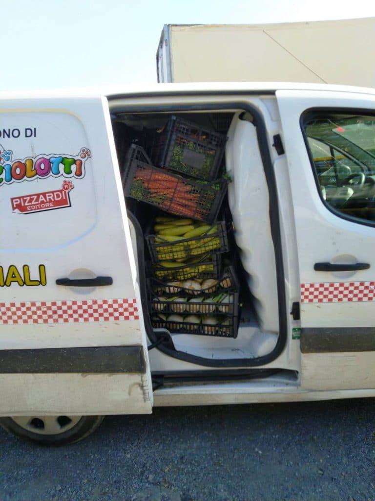 Volontari Enpa Savona portano cibo al circo Millennium 05