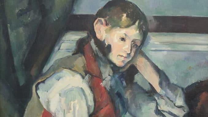 Particolare del dipinto di Cézanne