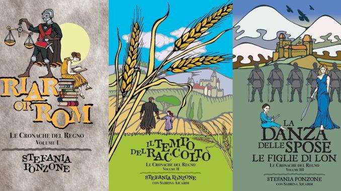 Copertine della saga Le Cronache del Regno