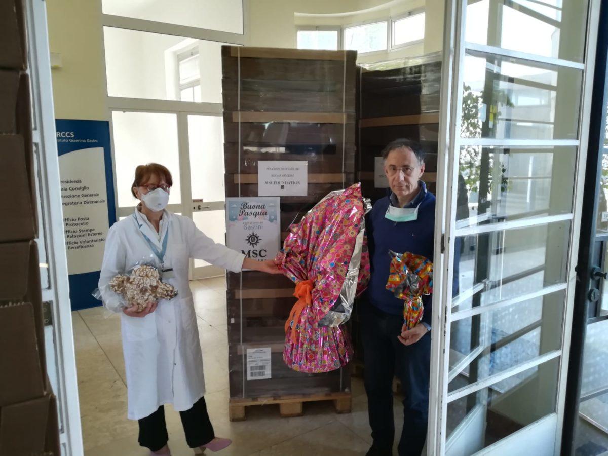 Genova donazioni Pasqua al Gaslini 08