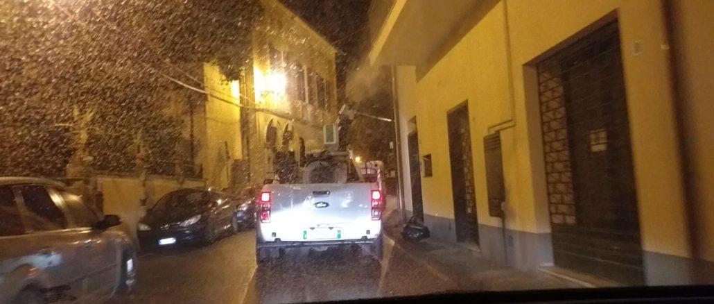 Lavaggio strade Albenga