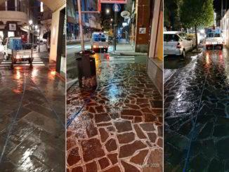 Lavaggio strade di Alassio