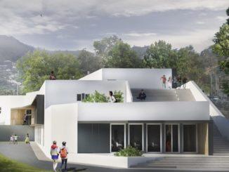Nuova scuola Alassio rendering