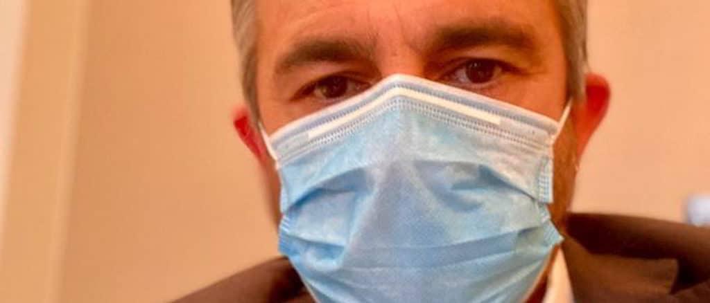 Paolo Ardenti con la mascherina
