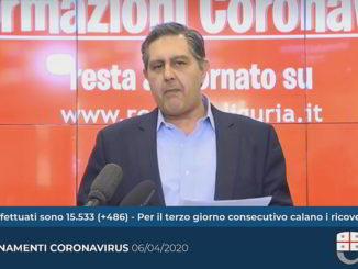 Toti aggiorna coronavirus Liguria 6-4-2020