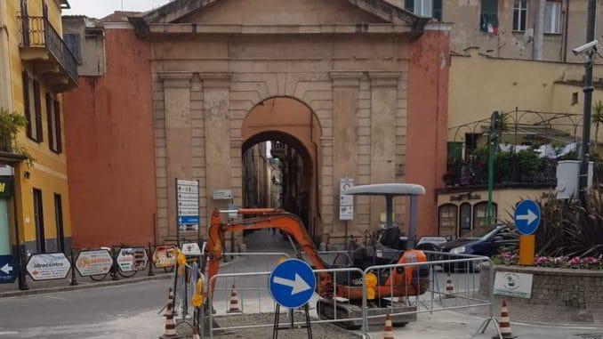 lavori Porta Molino ad Albenga