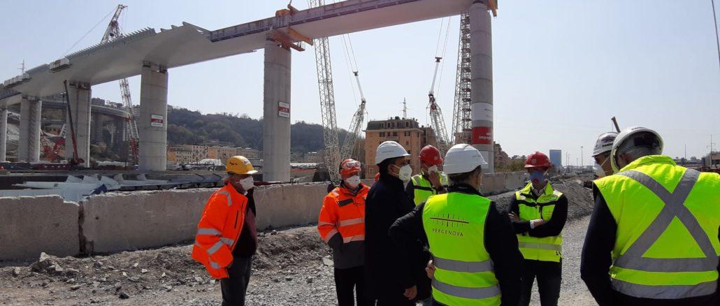 Ponte Genova visita 5 aprile 2020