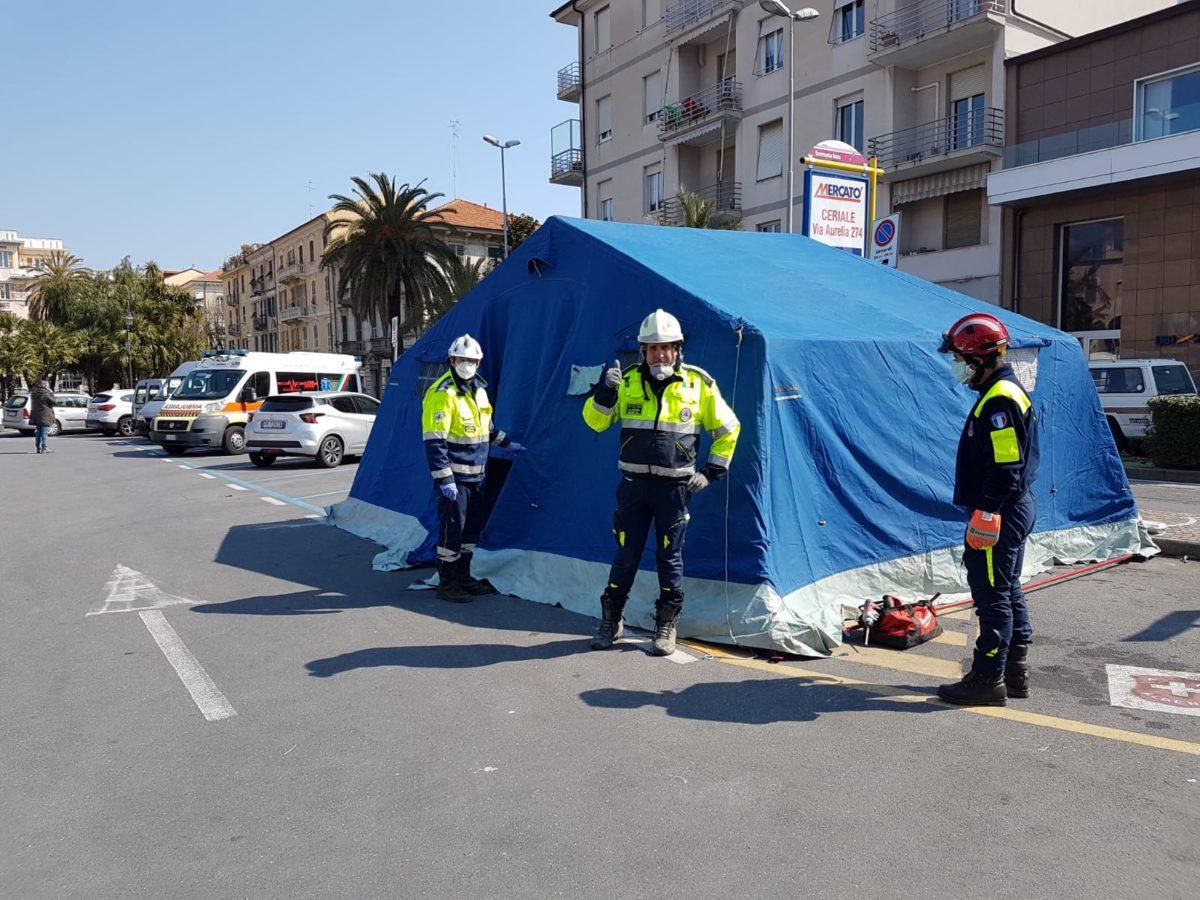 tenda di decontaminazione