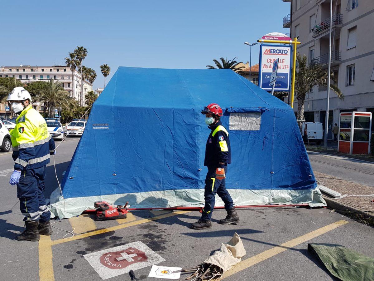 tenda di decontaminazione 2