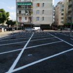 Ad Albenga segnaletica orizzontale piazza nenni