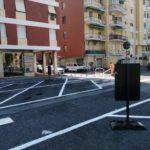 Ad Albenga segnaletica orizzontale piazza nenni 2