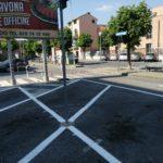 Ad Albenga segnaletica orizzontale piazza nenni 3