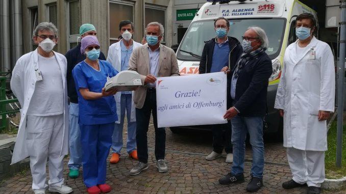 Donazione a ospedale di Pietra Ligure