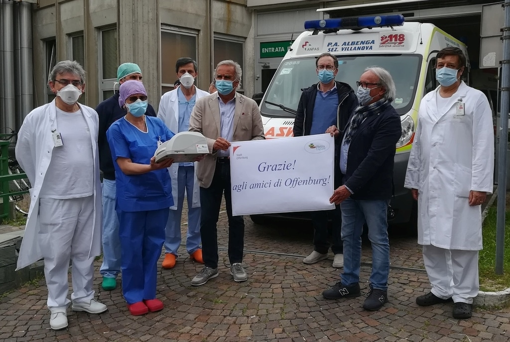 Donazione ospedale di Pietra Ligure