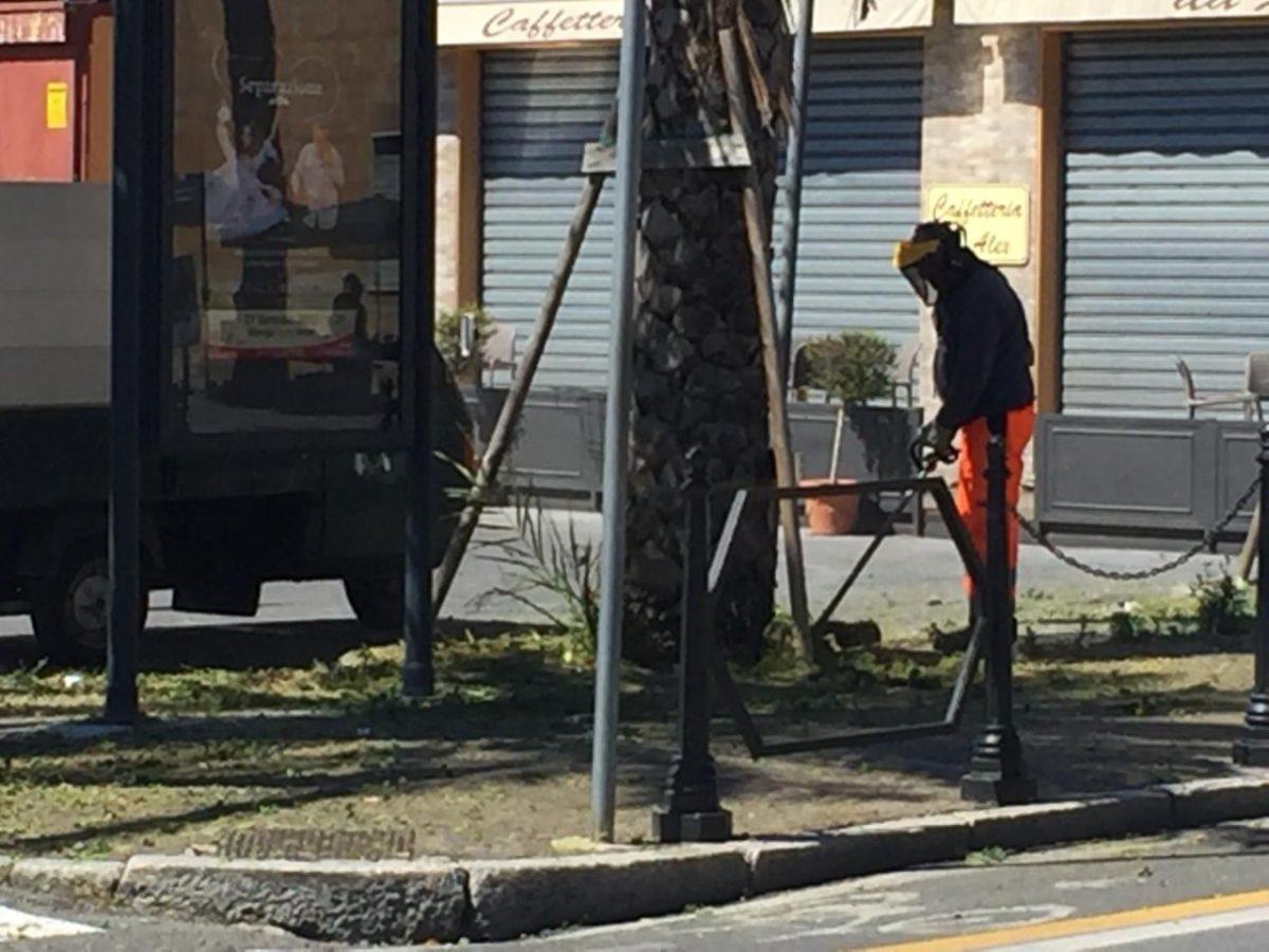 Lavori ad Albenga verde pubblico