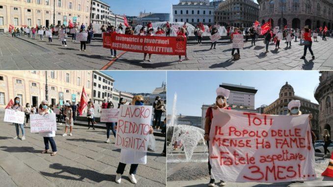 Manifestazione ristorazione mense a Genova