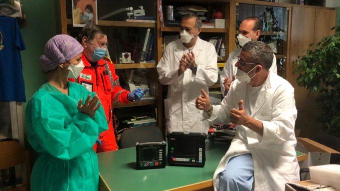 croce verde consegna a rianimazione ospedale Savona