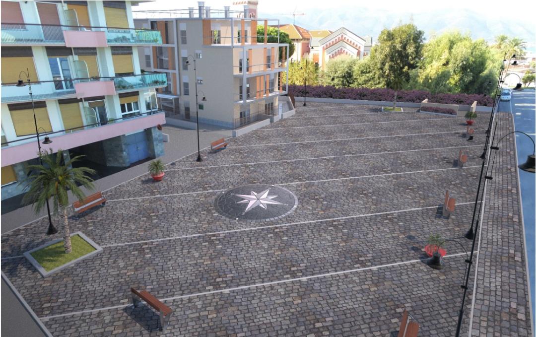 piazza Lungomare ad Albenga - rendering